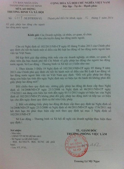 khong gia han giay phep lao dong cho nguoi nuoc ngoai