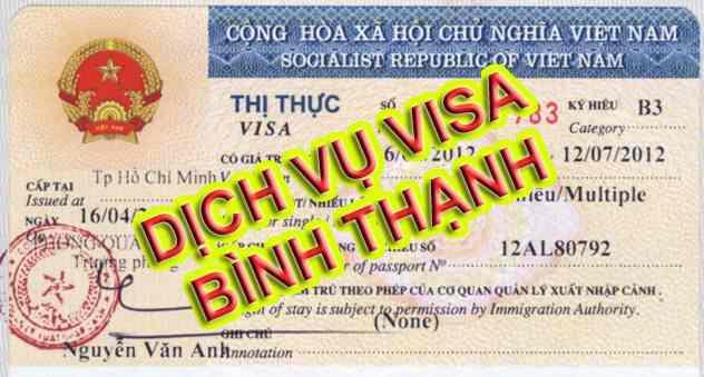 Dịch vụ visa tại Bình Thạnh, TPHCM
