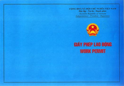 Mẫu giấy phép lao động (Specimen of Vietnam work permit)
