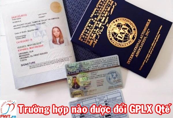 Trường hợp đổi giấy phép lái xe quốc tế tại Việt Nam