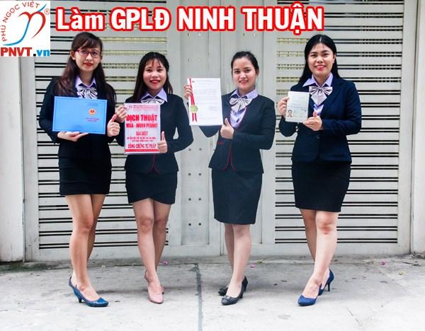 làm giấy phép lao động ở Ninh Thuận
