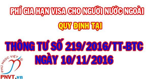 chi phí gia hạn visa cho người nước ngoài