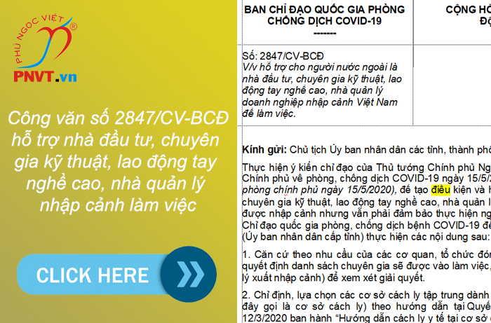 Giai đoạn Covid-19: xin nhập cảnh vào làm việc ở Việt Nam như thế nào
