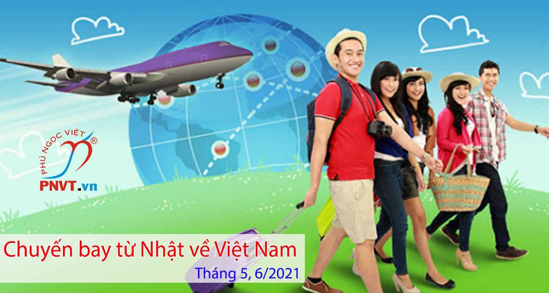chuyến bay từ nhật về Việt nam